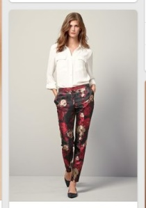 Next jacquard trousers
